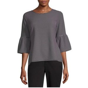 "NWT Liz Claiborne 3/4"" Bell Sleeve Knit Blouse"